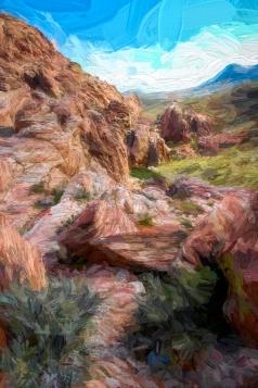 #77 Red Rocks (impasto)
