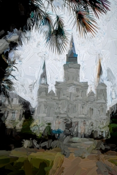 #78 St. Louis Cathedral on a Rainy Day