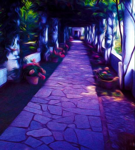 Shaded Walkway in Anacapri