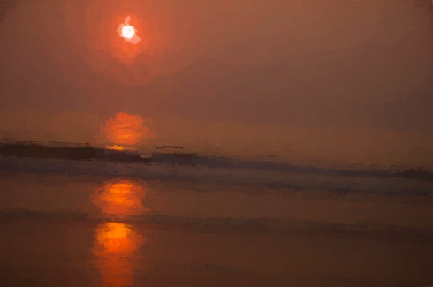 Sunrise at the Outer Banks Oil Painting Two